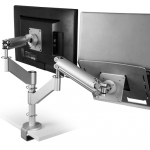Monitorarm met laptopsteun – gasgeveerd