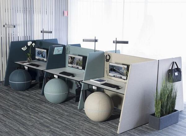 Akoestisch kantoorinrichting