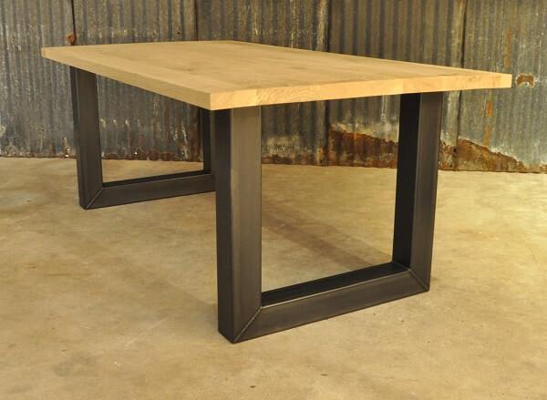 Vergadertafel u frame eikenhout