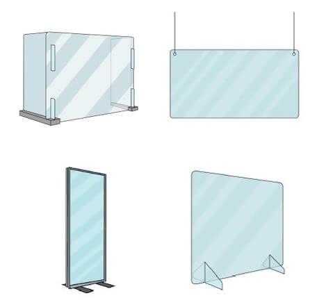 Plexiglas kantoor oplossingen frame staand model hangend