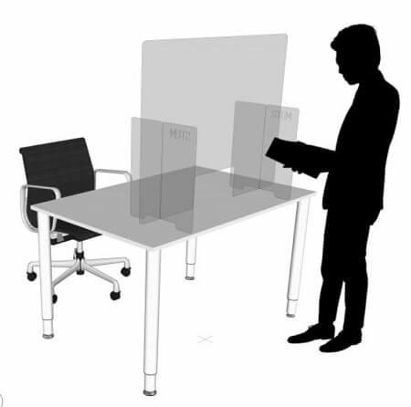 Plexiglas stembureau stemlokaal kuchscherm hoog